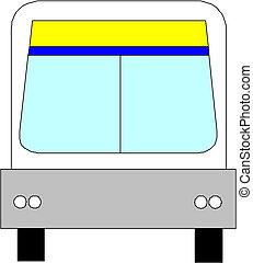 városi, vektor, autóbusz