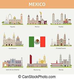 városok, mexikó