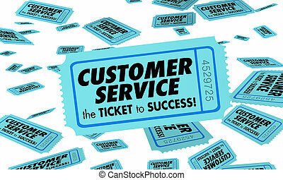vásárló, jó szolgáltatás, siker, figyelem, ábra, cédula, megbízók, 3