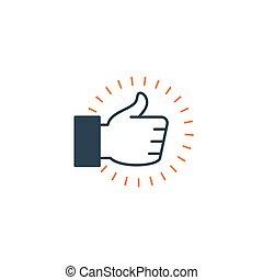 vásárló, szeret, szolgáltatás, aláír, élmény, feláll, kéz, stisfaction, ikon, helyeslés, lapozgat