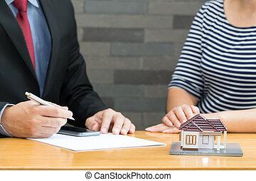 vásárlók, eljárás, ajánlott, otthon, eladó, vásárlás
