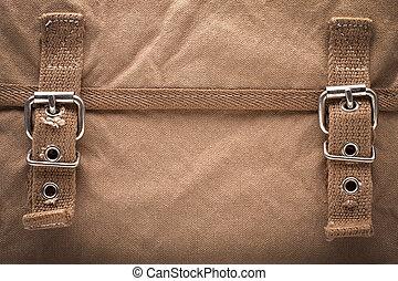 vászon, táska, háttér