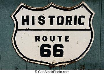 väg, historisk, 66