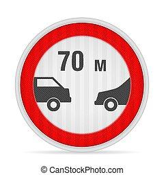 väg, minimum, distans, följande, underteckna