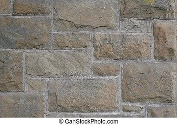 vägg, årgång, sandsten, rektangulär