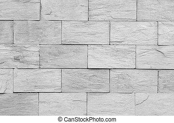 vägg, abstrakt, grå, struktur, tegeltäckt, bakgrund