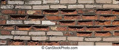 vägg, abstrakt, struktur, tegelsten, bakgrund