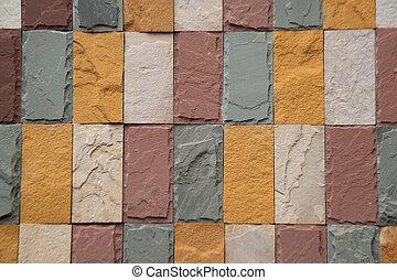 vägg, architecture., bakgrund, gammal, tegelsten mönstra, nymodig, struktur