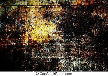 vägg, bakgrund,  grunge, Vinjett, Struktur