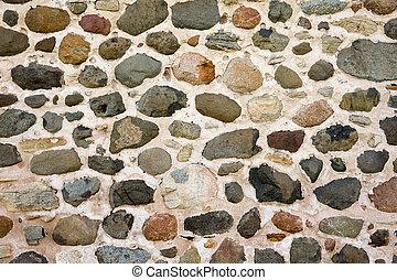 vägg, bakgrund, sten, fält