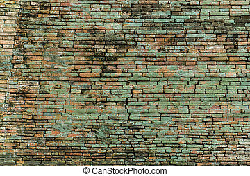 vägg, bakgrund., tegelsten, gammal, struktur