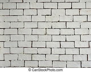 vägg, bakgrund., vita tegelsten, struktur