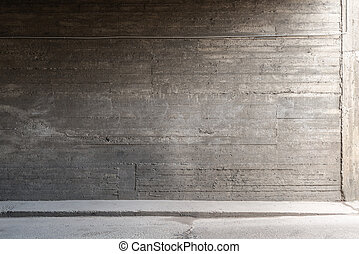 vägg, betong golvbeläggning