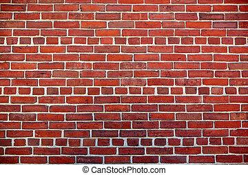 vägg, boston, struktur, massachusetts, brickwall, tegelsten