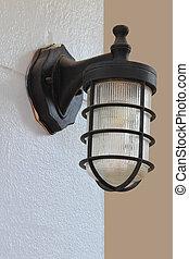 vägg, fixturer, belysning