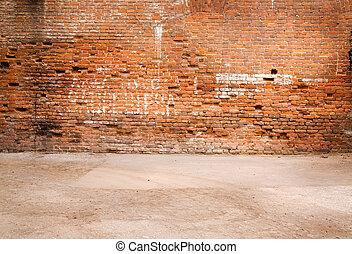 vägg, gammal