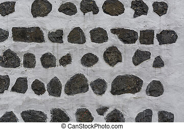 vägg, grå, sten, bakgrund, vit