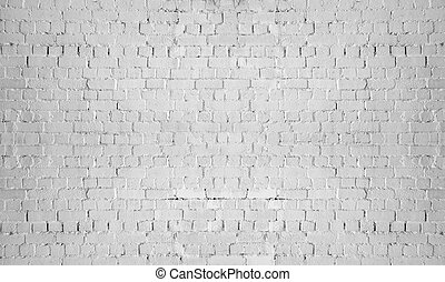 vägg, grå, tegelsten, bakgrund