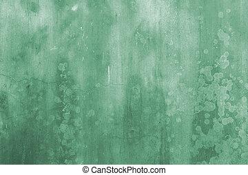 vägg, gröna abstrakta, grunge, bakgrund