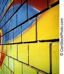 vägg, graffiti
