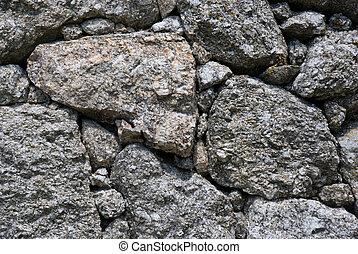 vägg, granit