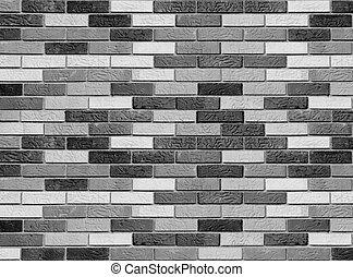vägg, grov, tegelsten
