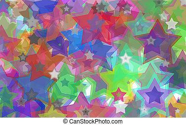 vägg,  grunge, Stjärnor