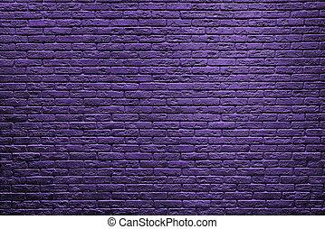 vägg, halloween, bakgrund., violett, tegelsten, dag