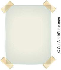 vägg, klistrig anteckning, fasthängd, tejpa, papper