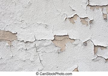 vägg, knäckt, struktur