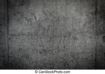 vägg, konkret, bar, struktur