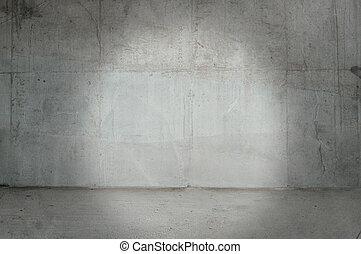 vägg, konkret