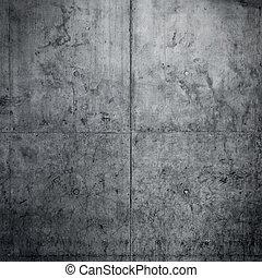 vägg, konkret, grungy, bakgrund, golv