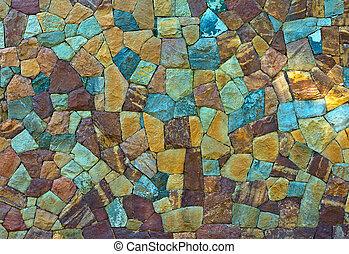 vägg, mönster, sten, gammal, återuppstå