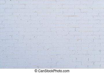 vägg, mönster, struktur, bakgrund., vita tegelsten