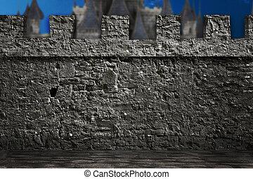vägg, medeltida, bakgrund