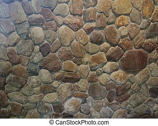 vägg, runda, bakgrund, struktur, tegelsten