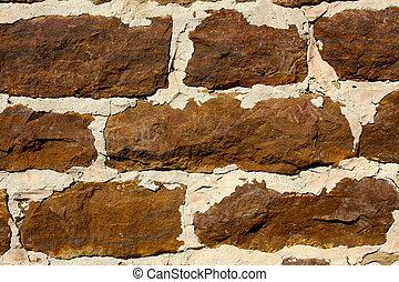vägg, sanstone, bakgrund