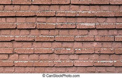 vägg, seamless, struktur, hög, tegelsten, upplösning, röd