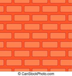 vägg, seamless, tegelstenar, bakgrund, tegelsten, texture., röd