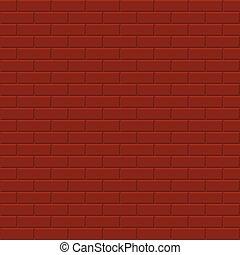 vägg, -, seamless, vektor, bakgrund, tegelsten, texture.