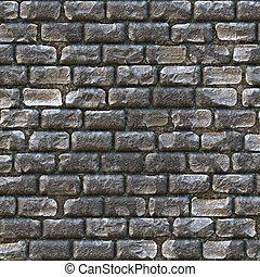 vägg, slott