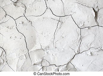 vägg, sprickor, cement