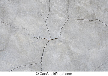 vägg, sprickor, struktur, bakgrund, cement