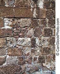 vägg, sten, 474