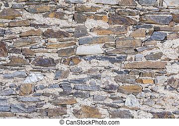 vägg, sten, bakgrund, strukturerad