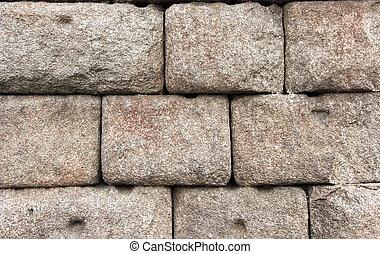 vägg, sten, forntida ruinerer, bakgrund