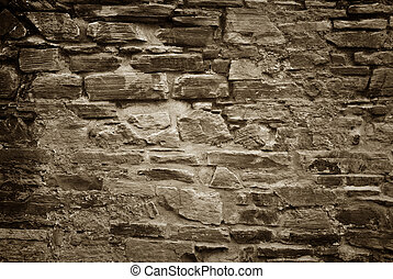 vägg, sten, gammal, bakgrund