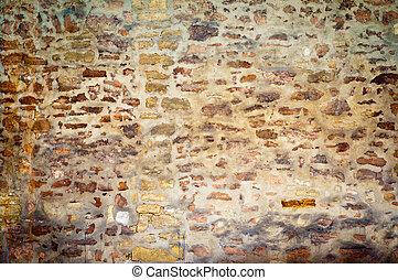 vägg, sten, gammal, bakgrund, struktur
