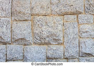 vägg, sten, nymodig, tegelsten, återuppstå